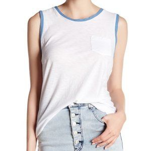 JAMES PERSE color block tank top white/blue